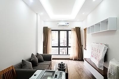 Bright and airy 1BR serviced apartment for rent in Nghi Tam, Tay Ho Dist