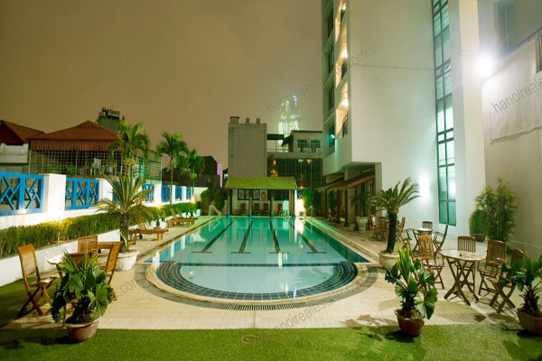Rose garden tower hanoi serviced apartments rental pool gym for Garden pool hanoi