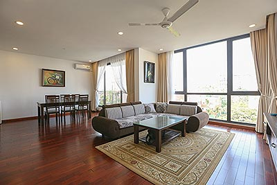 Amazing 03 bedroom apartment on To Ngoc Van with wooden furniture