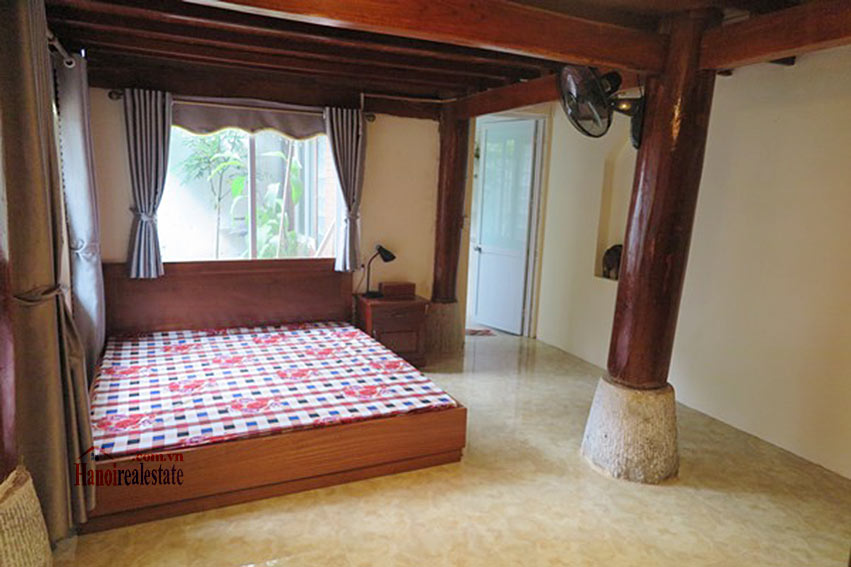 Antique Wooden house in Ba Dinh with a nice garden 18