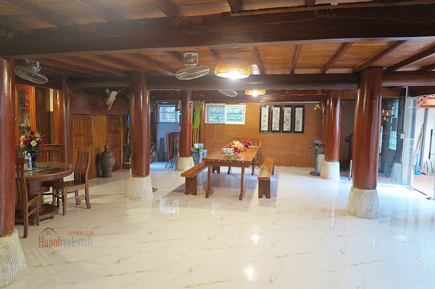 Antique Wooden house in Ba Dinh with a nice garden 8