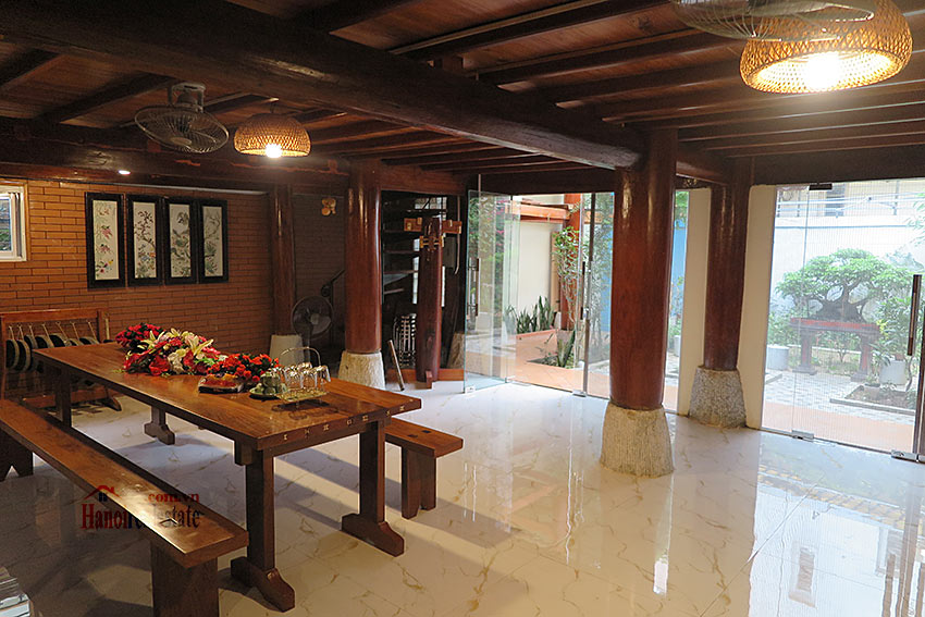 Antique Wooden house in Ba Dinh with a nice garden 9