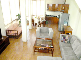 Apartment in Truc Bach, Duplex apartment on top floor, large terrace