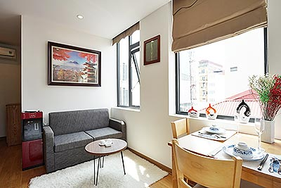 Awesome 01BR serviced apartment near Lotte Tower on Linh Lang St