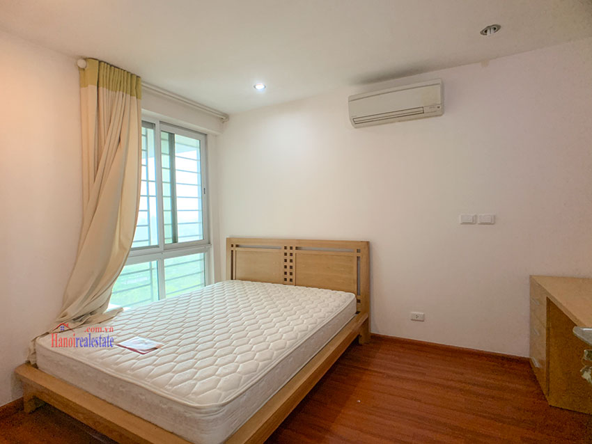Basic Furniture 03 bedroom apartment in P1 Block, Ciputra, spacious with villas view from huge balcony 11