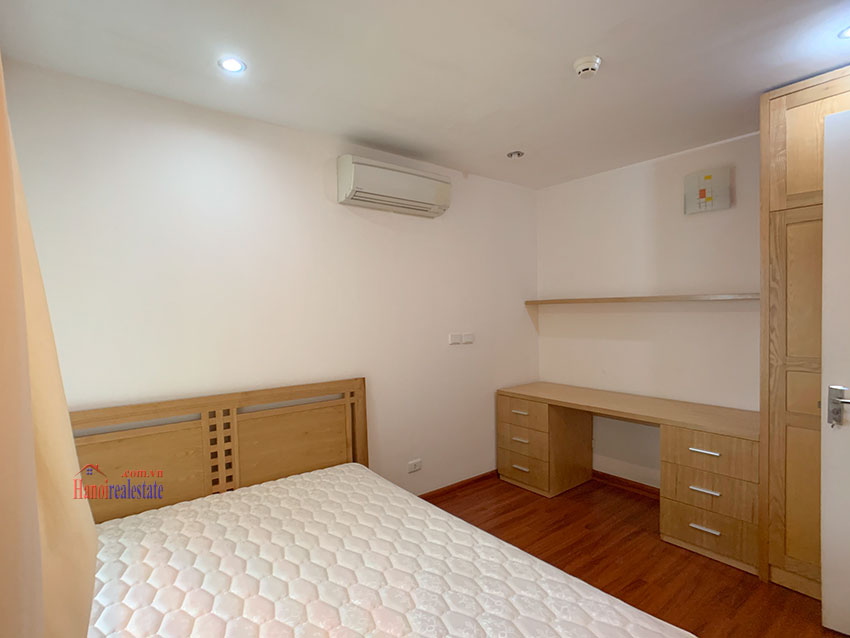 Basic Furniture 03 bedroom apartment in P1 Block, Ciputra, spacious with villas view from huge balcony 12