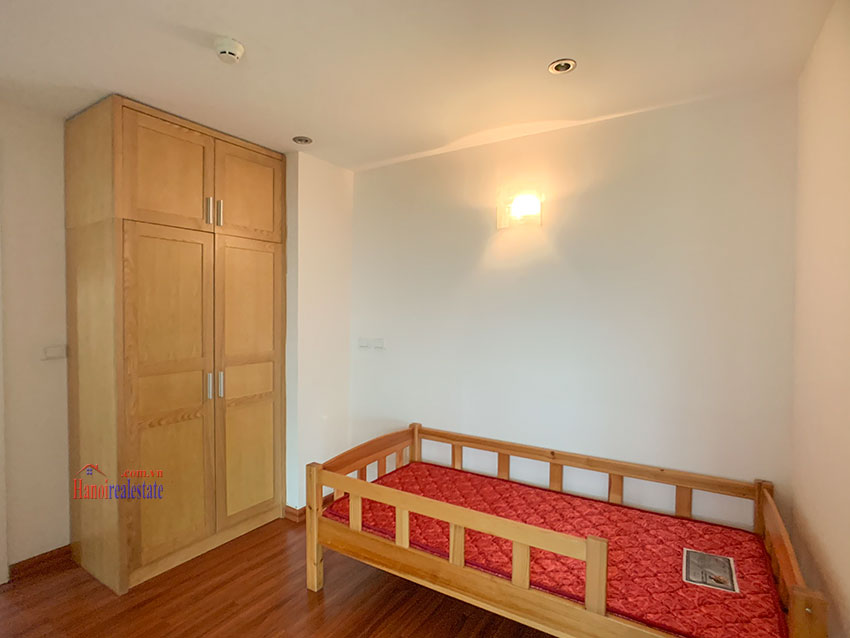 Basic Furniture 03 bedroom apartment in P1 Block, Ciputra, spacious with villas view from huge balcony 14