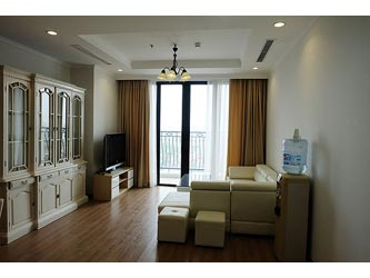 Beautiful 03BRs apartment for rent in Royal CIty, with beautiful view from balcony.