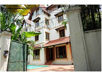 Big Villa for rent at To Ngoc Van, Large Garden and Swimming Pool