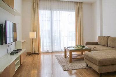Beautiful 2 bedroom apartment, 2 bathroom with bathtub for rent in Linh Lang