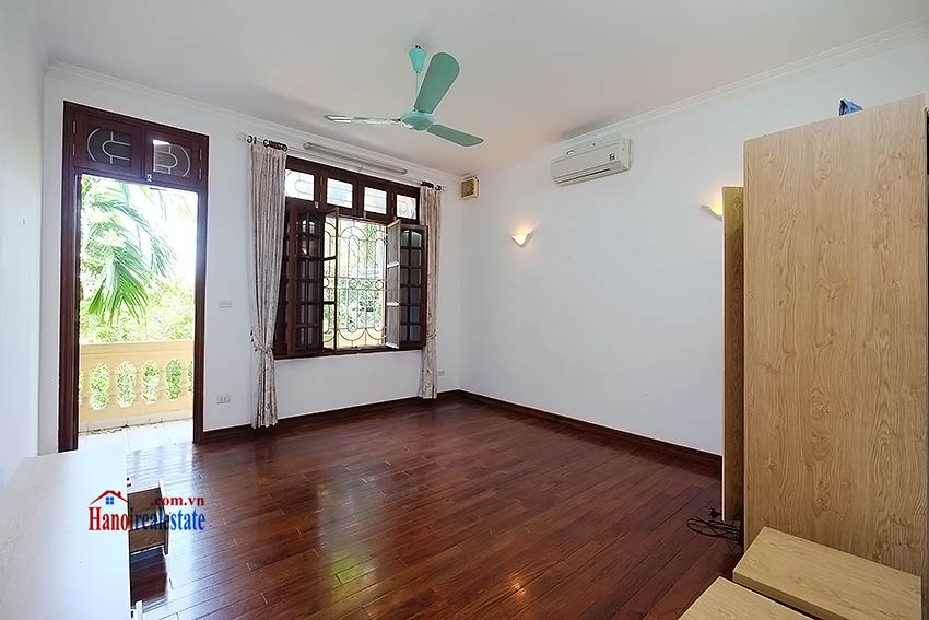 Beautiful 4-bedroom house for lease in Tay Ho, partly furnished & lake view terrace 11