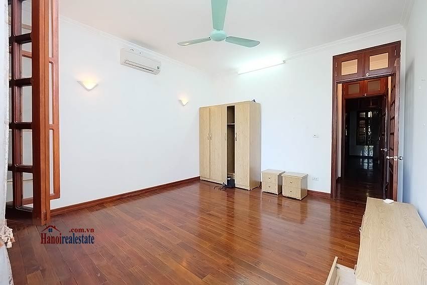 Beautiful 4-bedroom house for lease in Tay Ho, partly furnished & lake view terrace 12