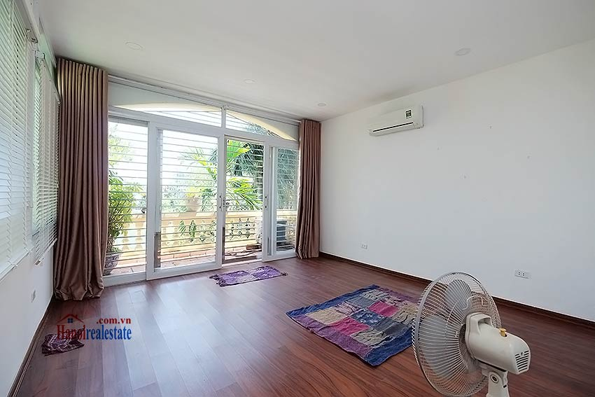 Beautiful 4-bedroom house for lease in Tay Ho, partly furnished & lake view terrace 14