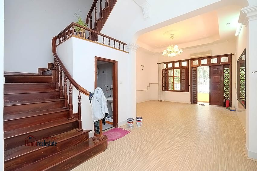 Beautiful 4-bedroom house for lease in Tay Ho, partly furnished & lake view terrace 3
