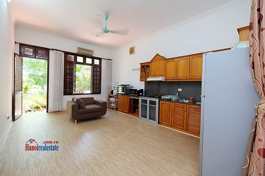 Beautiful 4-bedroom house for lease in Tay Ho, partly furnished & lake view terrace 4