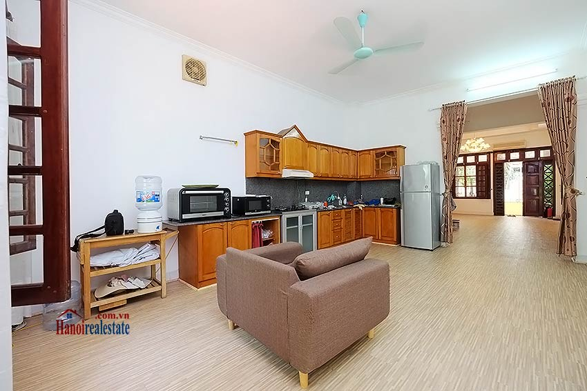 Beautiful 4-bedroom house for lease in Tay Ho, partly furnished & lake view terrace 5