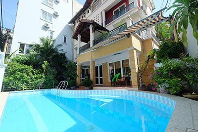 Beautiful house with outdoor swimming pool to rent in Tay Ho