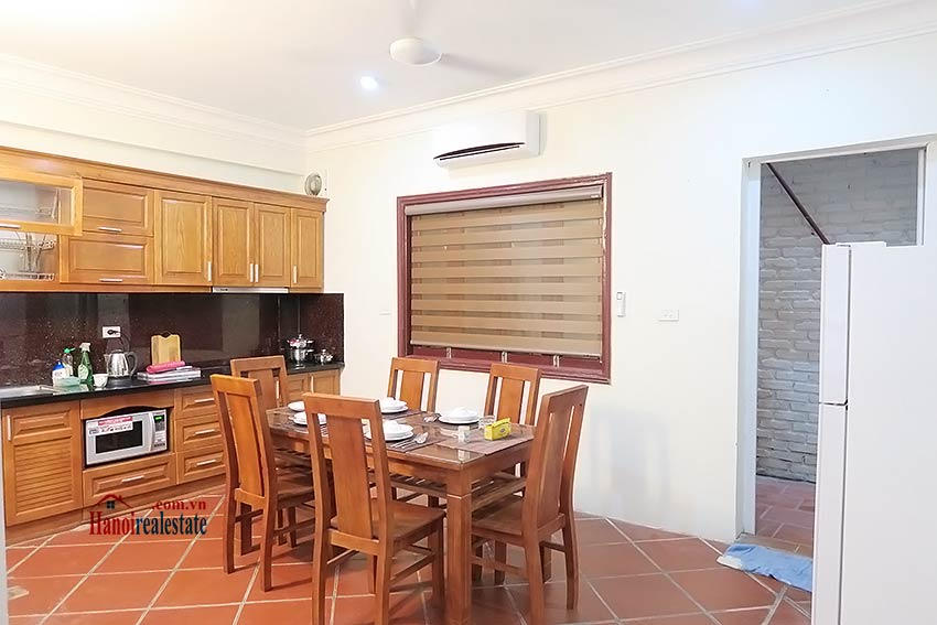 Big terrace 03 bedroom house to let in Tay Ho with fully furnished 6
