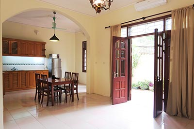 Big yard furnished 04 bedroom house to let on Xuan Dieu, Tay Ho West lake, Hanoi