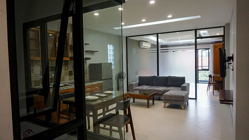 Brand new 01BR serviced apartment at Xuan La, balcony 1
