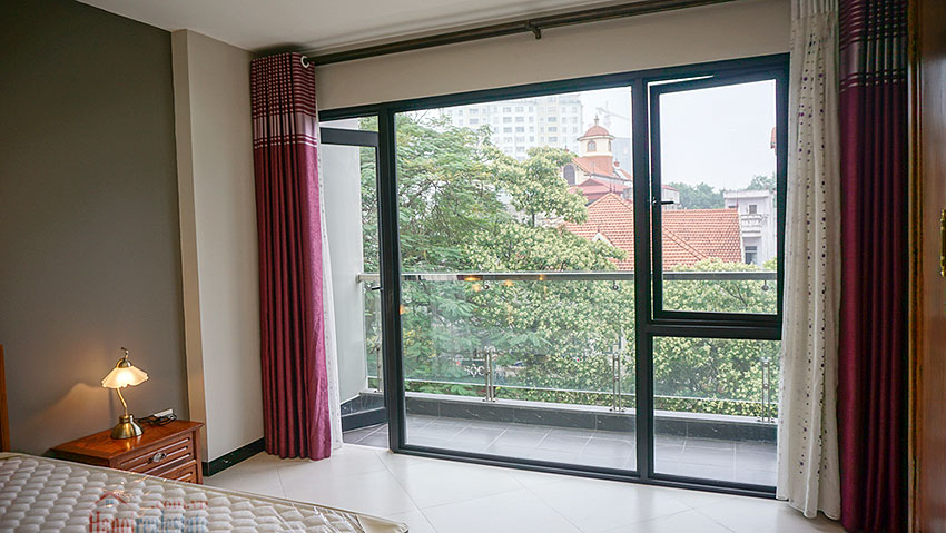 Brand new 01BR serviced apartment at Xuan La, balcony 6