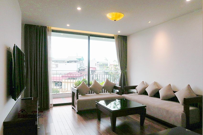 Brand new 02BRs apartment on Xuan Dieu, balcony 1