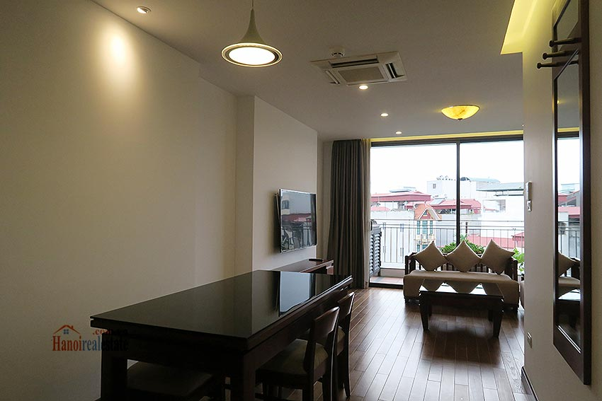 Brand new 02BRs apartment on Xuan Dieu, balcony 2