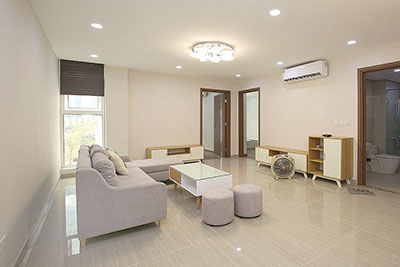 Brand new 03 bedroom apartment in L3, Ciputra, with basic furniture