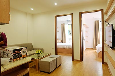 Brand new 2-bedroom apartment to rent in Truc Bach, Ba Dinh