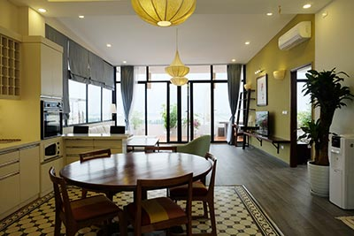 Brand new 3BRs serviced apartment with paranoma view of Westlake at To Ngoc Van