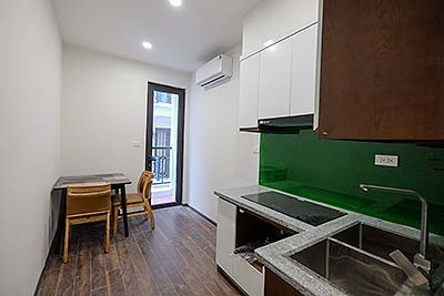 Brand new apartment with a separate bedroom in Tay Ho, Tu Hoa Street