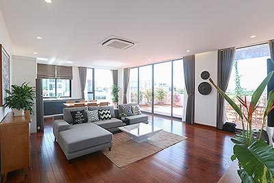 Brand new & Modern Penthouse to rent in Tay Ho with Large terrace