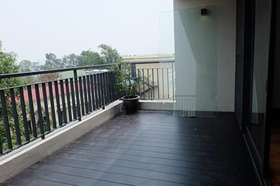 Brand-new 01BR serviced apartment at Vong Thi, spacious balcony