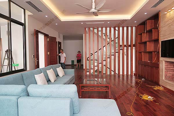 Brand-new, fully furnished 04BRs villa for rent at Tay Ho, with swimming pool. 10