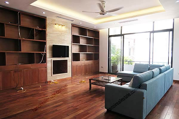 Brand-new, fully furnished 04BRs villa for rent at Tay Ho, with swimming pool. 15