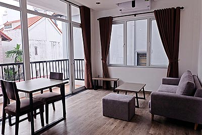 Brand-new serviced apartment in quiet alley, Tay Ho