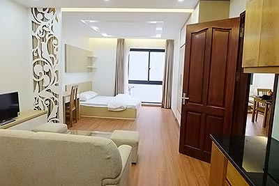 Brand-new studio serviced apartment for lease in Ba Dinh Dist