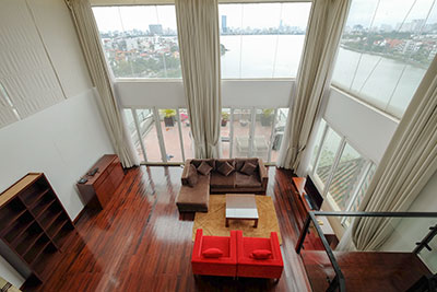 Breathtaking view 3-bedroom duplex apartment on Xuan Dieu