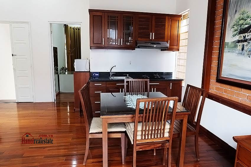 Bright and airy 01BR apartment for rent in Kim Ma, fully furnished 2