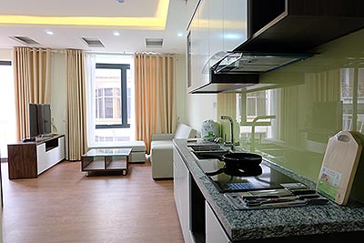Bright and airy apartment rental in To Ngoc Van, Tay Ho Hanoi, 1 Bedroom