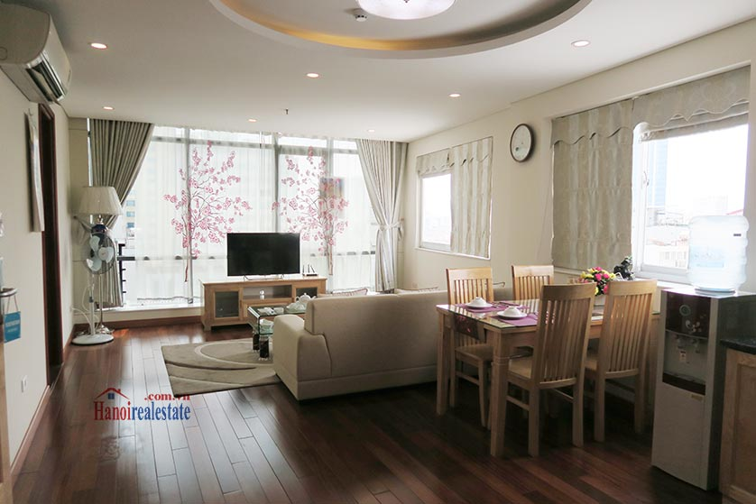 Bright and airy 02BRs serviced apartment in Ba Dinh District, city view 1