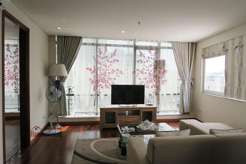 Bright and airy 02BRs serviced apartment in Ba Dinh District, city view 2