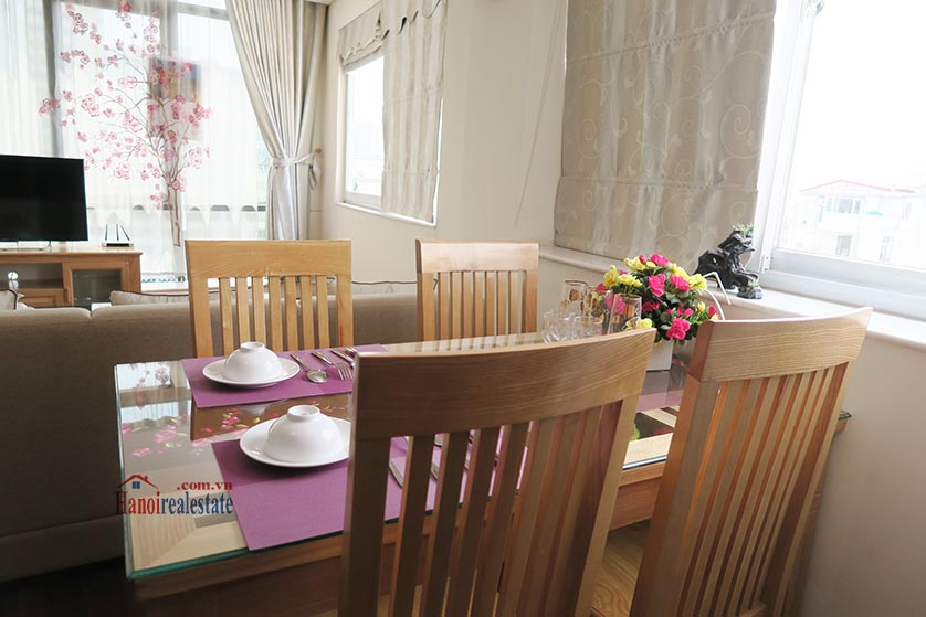 Bright and airy 02BRs serviced apartment in Ba Dinh District, city view 5