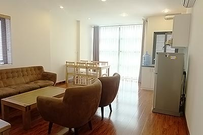 Bright serviced apartment with one bedroom, Truc Bach area