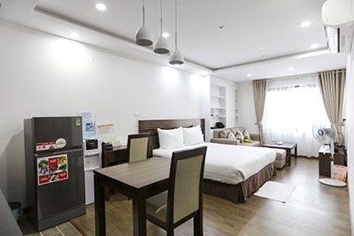 Bright studio apartment For Rent on Truong Cong Giai St, Cau Giay Hanoi