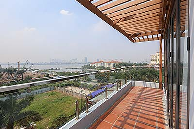 Modern Top floor apartment with large balcony on Tay Ho road, 01 bedroom