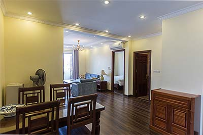 Fully furnished Two-bed apartment for rent on Au Co, balcony