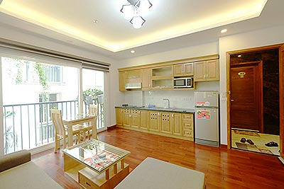 Bright and airy apartment with 01 separate bedroom in Ba Dinh, alley 535 Kim Ma