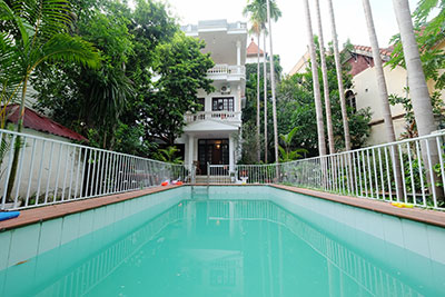 Charming House with Pool & spacious Garden to rent in Tay Ho