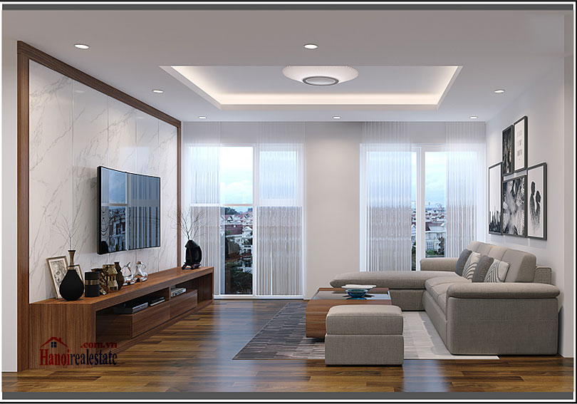 Ciputra: Brilliant 03BRs apartment on high floor at L3, balcony 1
